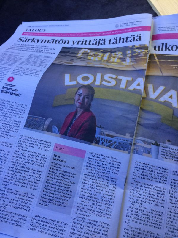 Article in Helsingin Sanomat (October 2016)