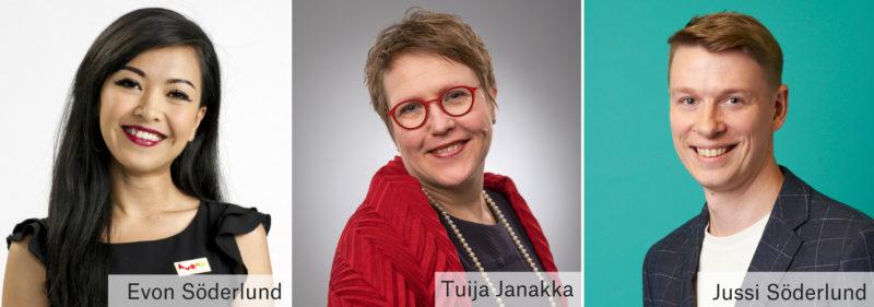 Evon Söderlund Tuija Janakka Jussi Söderlund
