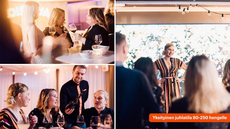 Huone Helsinki yksityinen juhlatila pikkujouluihin Helsingissä.pg